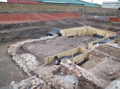 These are the Abbey remains which were recently uncovered
