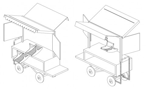Initial design for our fantastic new Honesty Stall by Andreas Lang